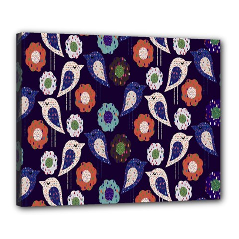 Cute Birds Seamless Pattern Canvas 20  X 16