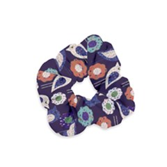Cute Birds Seamless Pattern Velvet Scrunchie