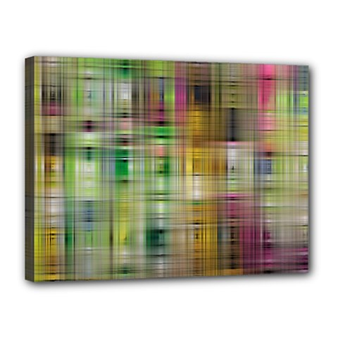 Woven Colorful Abstract Background Of A Tight Weave Pattern Canvas 16  X 12  by Nexatart