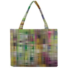 Woven Colorful Abstract Background Of A Tight Weave Pattern Mini Tote Bag