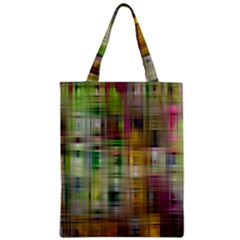 Woven Colorful Abstract Background Of A Tight Weave Pattern Zipper Classic Tote Bag by Nexatart