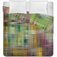 Woven Colorful Abstract Background Of A Tight Weave Pattern Duvet Cover Double Side (king Size)
