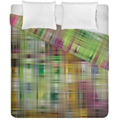 Woven Colorful Abstract Background Of A Tight Weave Pattern Duvet Cover Double Side (california King Size)