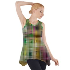 Woven Colorful Abstract Background Of A Tight Weave Pattern Side Drop Tank Tunic