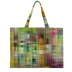 Woven Colorful Abstract Background Of A Tight Weave Pattern Zipper Large Tote Bag by Nexatart