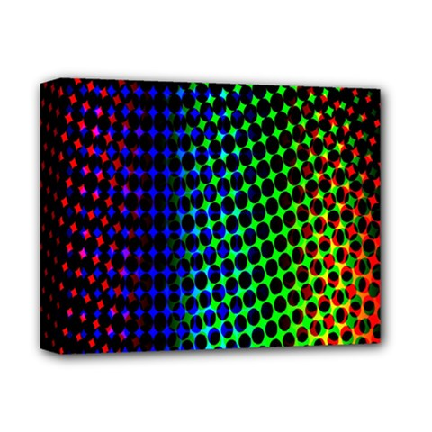 Digitally Created Halftone Dots Abstract Deluxe Canvas 14  X 11  by Nexatart