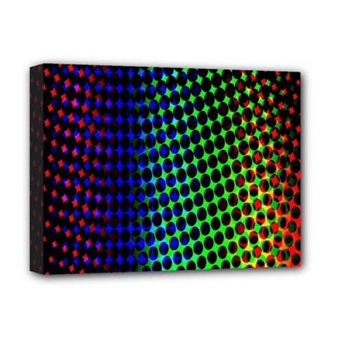 Digitally Created Halftone Dots Abstract Deluxe Canvas 16  X 12   by Nexatart