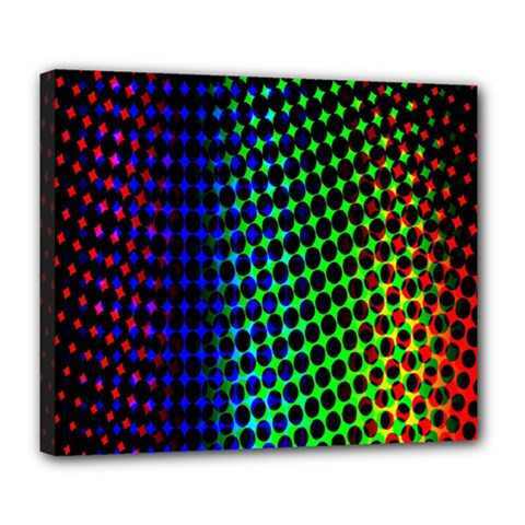 Digitally Created Halftone Dots Abstract Deluxe Canvas 24  X 20   by Nexatart