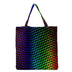 Digitally Created Halftone Dots Abstract Grocery Tote Bag
