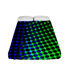 Digitally Created Halftone Dots Abstract Fitted Sheet (full/ Double Size)