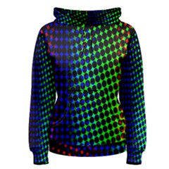 Digitally Created Halftone Dots Abstract Women s Pullover Hoodie