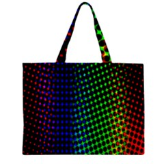 Digitally Created Halftone Dots Abstract Zipper Mini Tote Bag