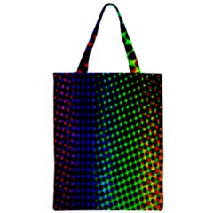 Digitally Created Halftone Dots Abstract Zipper Classic Tote Bag