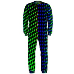 Digitally Created Halftone Dots Abstract Onepiece Jumpsuit (men)