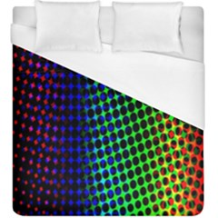 Digitally Created Halftone Dots Abstract Duvet Cover (king Size) by Nexatart