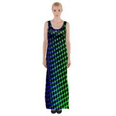 Digitally Created Halftone Dots Abstract Maxi Thigh Split Dress