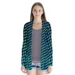 Digitally Created Halftone Dots Abstract Cardigans