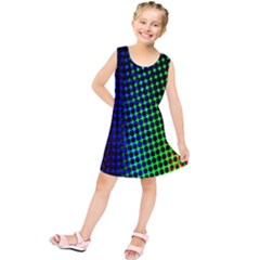 Digitally Created Halftone Dots Abstract Kids  Tunic Dress