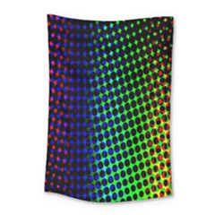 Digitally Created Halftone Dots Abstract Small Tapestry by Nexatart