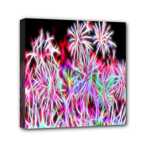 Fractal Fireworks Display Pattern Mini Canvas 6  X 6