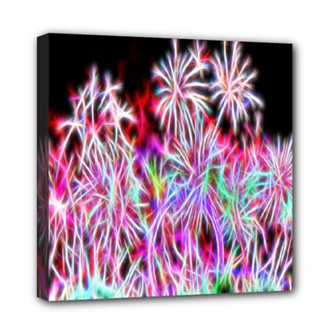 Fractal Fireworks Display Pattern Mini Canvas 8  X 8  by Nexatart
