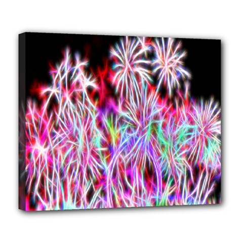 Fractal Fireworks Display Pattern Deluxe Canvas 24  X 20   by Nexatart