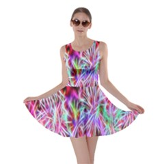 Fractal Fireworks Display Pattern Skater Dress