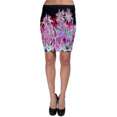 Fractal Fireworks Display Pattern Bodycon Skirt