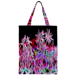 Fractal Fireworks Display Pattern Zipper Classic Tote Bag by Nexatart