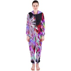 Fractal Fireworks Display Pattern Hooded Jumpsuit (ladies)  by Nexatart