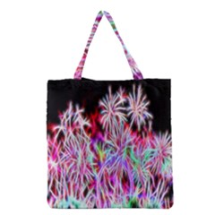 Fractal Fireworks Display Pattern Grocery Tote Bag by Nexatart