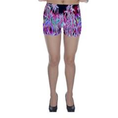 Fractal Fireworks Display Pattern Skinny Shorts