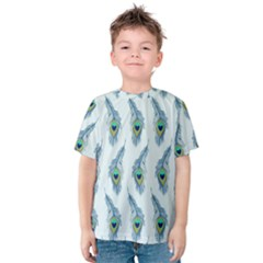 Background Of Beautiful Peacock Feathers Kids  Cotton Tee
