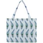 Background Of Beautiful Peacock Feathers Mini Tote Bag