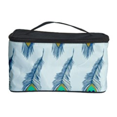 Background Of Beautiful Peacock Feathers Cosmetic Storage Case by Nexatart