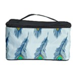 Background Of Beautiful Peacock Feathers Cosmetic Storage Case