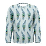 Background Of Beautiful Peacock Feathers Men s Long Sleeve Tee