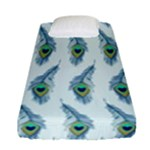 Background Of Beautiful Peacock Feathers Fitted Sheet (Single Size)