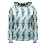 Background Of Beautiful Peacock Feathers Women s Pullover Hoodie