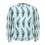 Background Of Beautiful Peacock Feathers Men s Sweatshirt
