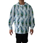 Background Of Beautiful Peacock Feathers Hooded Wind Breaker (Kids)