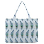 Background Of Beautiful Peacock Feathers Medium Zipper Tote Bag