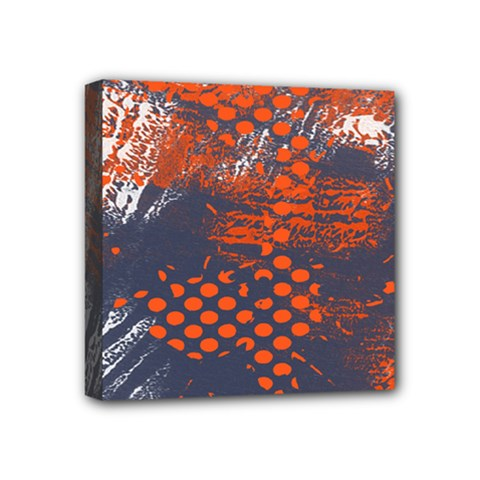 Dark Blue Red And White Messy Background Mini Canvas 4  X 4  by Nexatart
