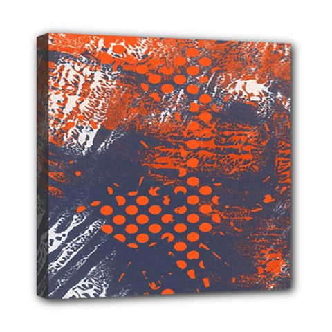 Dark Blue Red And White Messy Background Mini Canvas 8  X 8