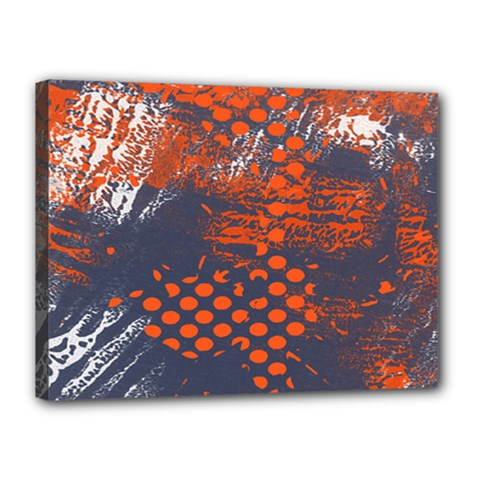 Dark Blue Red And White Messy Background Canvas 16  X 12  by Nexatart