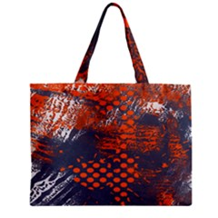 Dark Blue Red And White Messy Background Zipper Mini Tote Bag by Nexatart