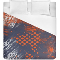 Dark Blue Red And White Messy Background Duvet Cover (king Size) by Nexatart