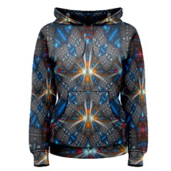 Fancy Fractal Pattern Background Accented With Pretty Colors Women s Pullover Hoodie