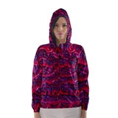 Plastic Mattress Background Hooded Wind Breaker (women)