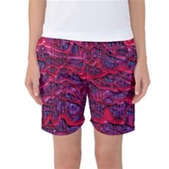 Plastic Mattress Background Women s Basketball Shorts